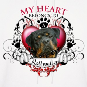 My Heart Belongs to a Rottweiler Hoodies - Men's Hoodie