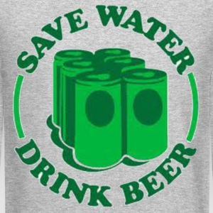 Save water. Drink beer. Long Sleeve Shirts - Crewneck Sweatshirt