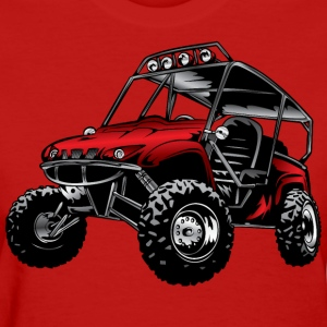 UTV side-x-side rhino, red - Women's T-Shirt