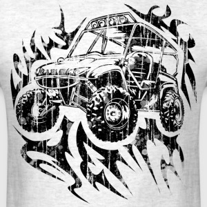 UTV side-x-side Fired-up, distressed - Men's T-Shirt