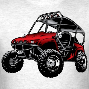 UTV side-x-side yamaha, red - Men's T-Shirt