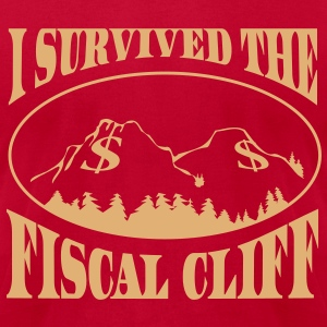 Fiscal Cliff Survivor T-Shirts - Men's T-Shirt by American Apparel