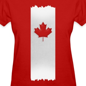Canadian Maple Leaf on silver stake 4 red apparels Women's T-Shirts - Women's T-Shirt
