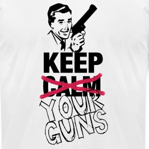 KEEP (CALM) YOUR GUNS - Gents T-Shirts - Men's T-Shirt by American Apparel