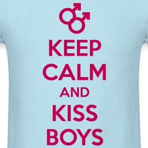 keep calm and kiss gay boys - Men's T-Shirt