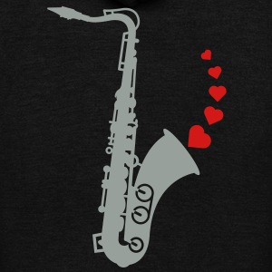 Sax and Love Zip Hoodies/Jackets - Unisex Fleece Zip Hoodie by American Apparel