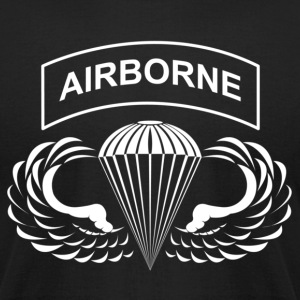 Airborne Hardcore - Men's T-Shirt by American Apparel