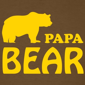 Papa T-Shirt - Papa bear - Men's T-Shirt