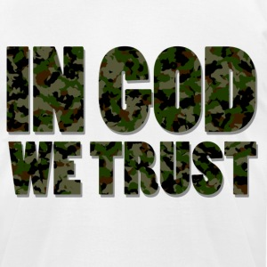 """In God We Trust"" Tee - Men's T-Shirt by American Apparel"