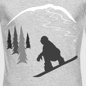 Snowboarder and Tracks Long Sleeve Shirts - Men's Long Sleeve T-Shirt by Next Level