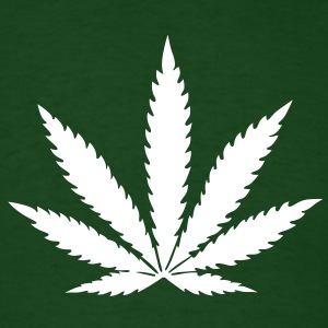 weed marijuana cannabis drugs leaf T-Shirts - Men's T-Shirt