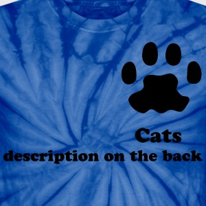 cats description on the back shirt - Unisex Tie Dye T-Shirt