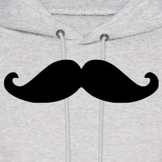 Movember Moustache Hoodie
