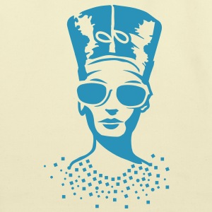 A woman wearing sunglasses with Nefertiti hat Bags  - Eco-Friendly Cotton Tote