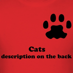 Cat paw shirt - Men's T-Shirt