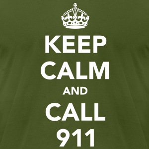 Keep Calm and Call 911 T-Shirts - Men's T-Shirt by American Apparel