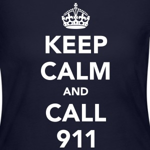 Keep Calm and Call 911 Long Sleeve Shirts - Women's Long Sleeve Jersey T-Shirt