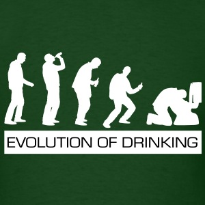 Evolution of Drinking - St Patrick's Day Edition - Men's T-Shirt