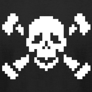 Pirate pixels T-Shirts - Men's T-Shirt by American Apparel