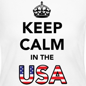 Keep Calm in the USA Long Sleeve Shirts - Women's Long Sleeve Jersey T-Shirt