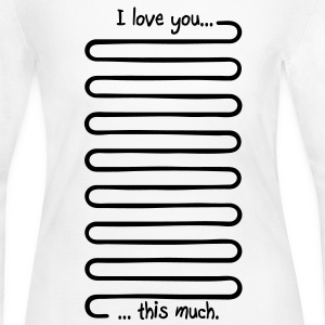 I love you this much Long Sleeve Shirts - Women's Long Sleeve Jersey T-Shirt