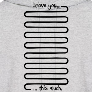 I love you this much Hoodies - Men's Hoodie