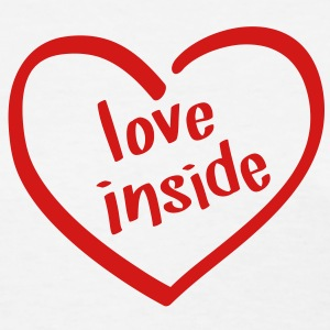 Love Inside - Heart Shaped Logo Women's T-Shirts - Women's T-Shirt