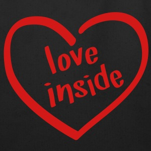 Love Inside - Heart Shaped Logo Bags  - Eco-Friendly Cotton Tote