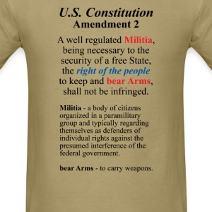U.S. Constitution Amendment 2 T-Shirts - Men's T-Shirt