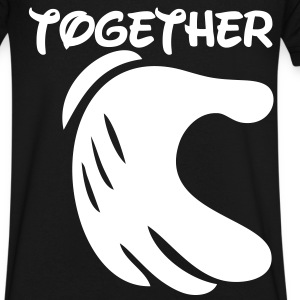 together forever T-Shirts - Men's V-Neck T-Shirt by Canvas