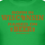Design ~ Born in Wisconsin - Metallic Gold