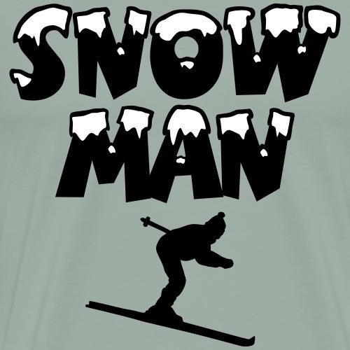 Snowman Snow Ski Skier Skiing