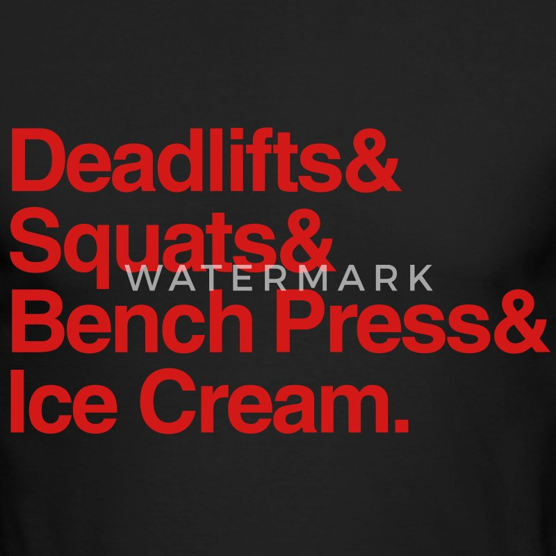 Deadlifts Squats Bench Press Ice Cream - Men's Long Sleeve T-Shirt by Next Level