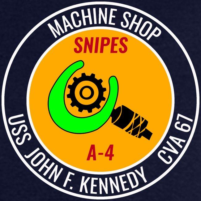 USS JOHN F KENNEDY CVA-67 MACHINE SHOP TEE - LEFT FRONT ONLY