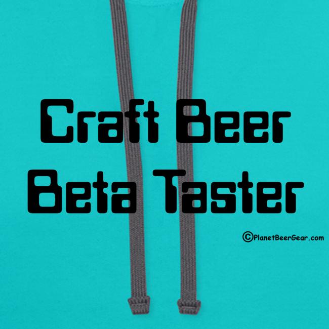 Craft Beer Beta Taster Contrast Hoodie