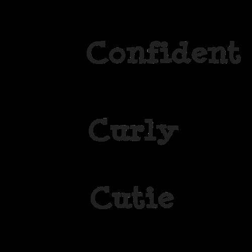 Confident Curly Cutie