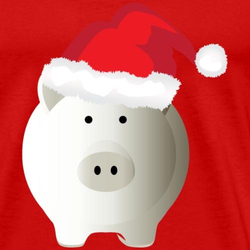 XMAS Piggy with Santa hat