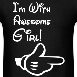 i'm with awesome girl T-Shirts - Men's T-Shirt