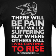 Design ~ There will be pain | CutAndJacked | Mens tee (back print)