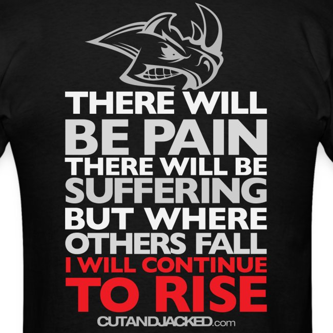 There will be pain   CutAndJacked   Mens tee (back print)