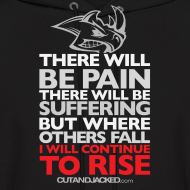 Design ~ There will be pain | CutAndJacked | Mens hoodie