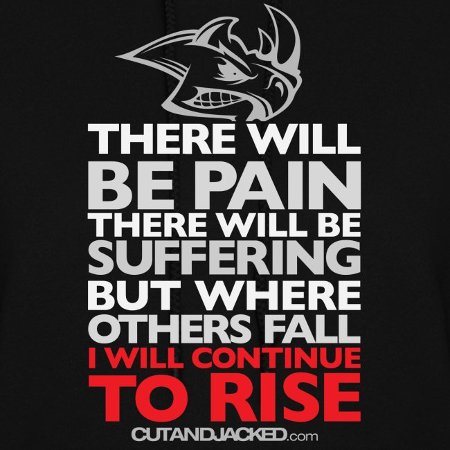 There will be pain   CutAndJacked  Womens hoodie