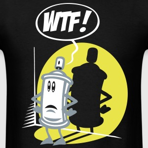 WTF spray T-Shirts - Men's T-Shirt