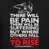 Design ~ There will be pain | CutAndJacked | Mens hoodie (back print)