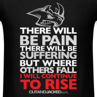 Design ~ There will be pain | CutAndJacked | Mens tee