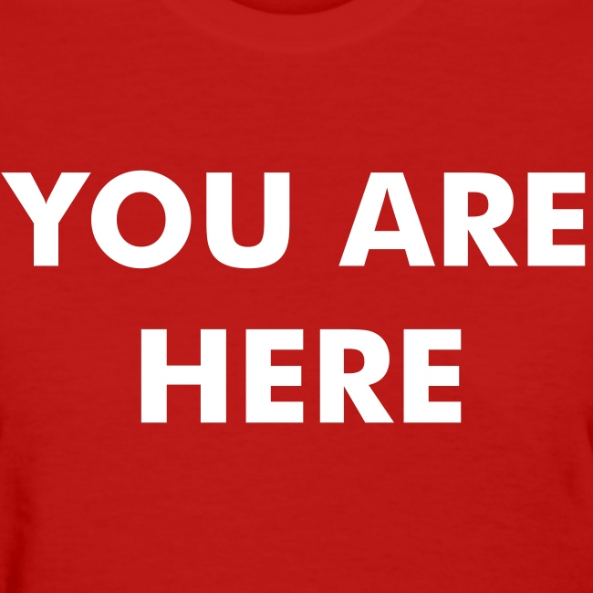 """""""YOU ARE HERE"""" John Lennon T-shirt as worn by Halle Berry."""