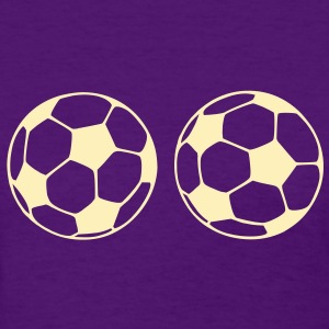 soccer ball boobs Women's T-Shirts - Women's T-Shirt