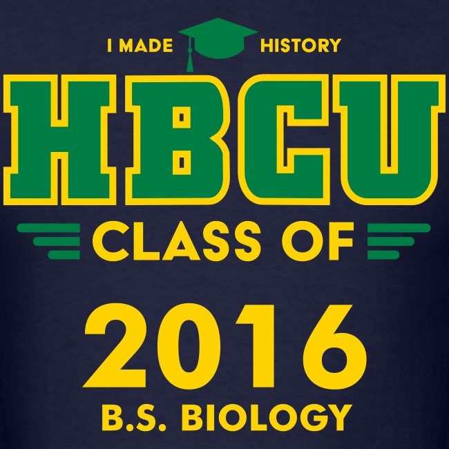 HBCU Grad Class and Major [Personalize it]