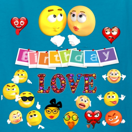 Cute Love Birthday Emojis
