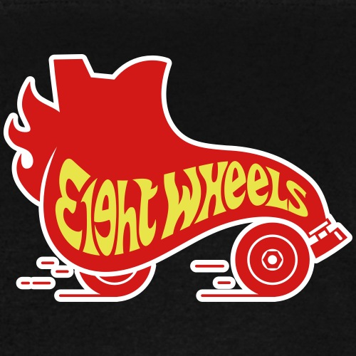 8 Wheels Retro Skate